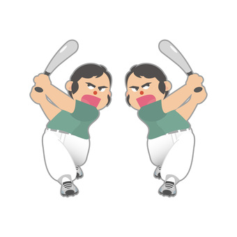 Batters (right-handed and left-handed)