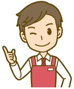 Male (sales clerk): B_ point 01BS