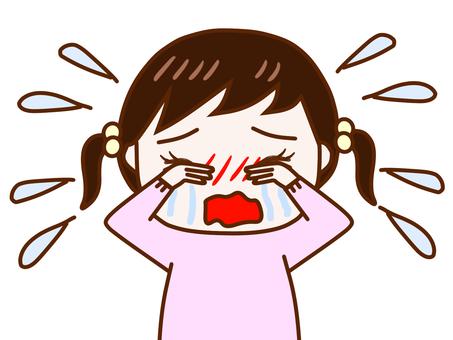 大泣きする少女2