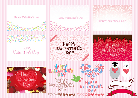 Valentine's Day Frame Illustration Set