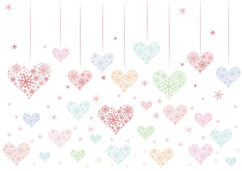 0128 Heart Background 3 Colorful