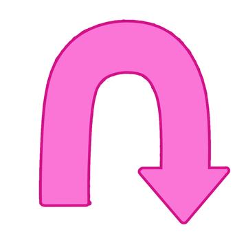 U-turn arrow