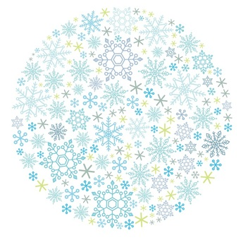 Snow Crystal Round