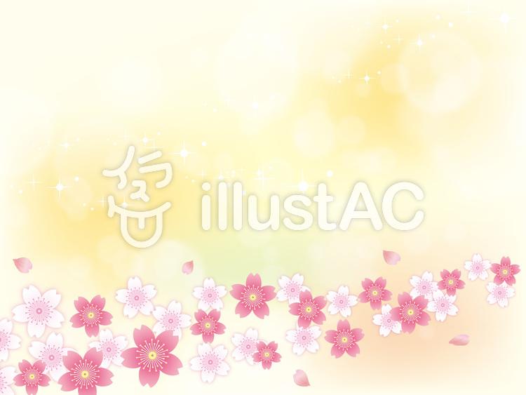 春ふわふわした桜背景素材04イラスト No 7312 無料イラストなら イラストac