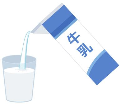 牛乳パック_注ぐ
