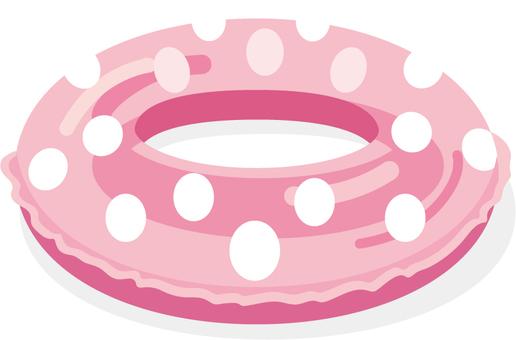 Rainbow polka dot pink