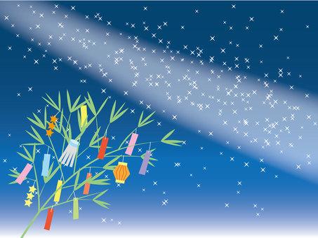 Tanabata Bamboo and Milky Way