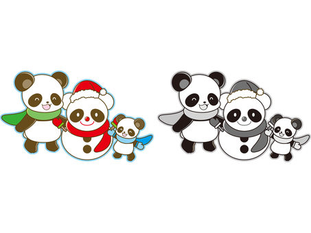 Panda illustration _ Christmas _ 02
