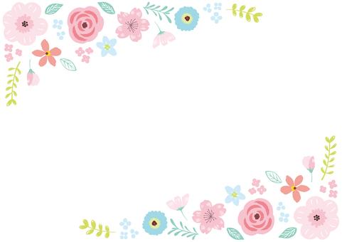 手書きのお花フレーム