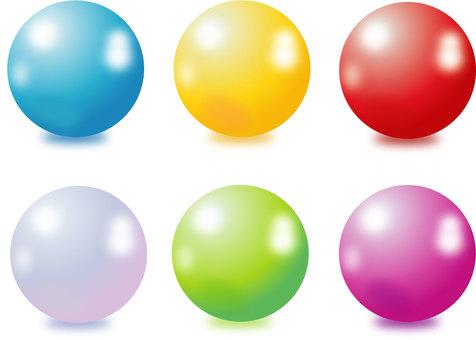 Ball shiny sphere