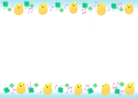 Chick and clover frame