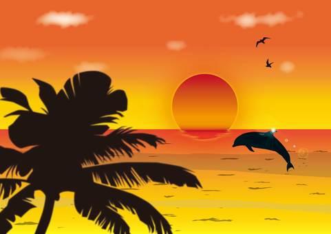 黃昏的大海
