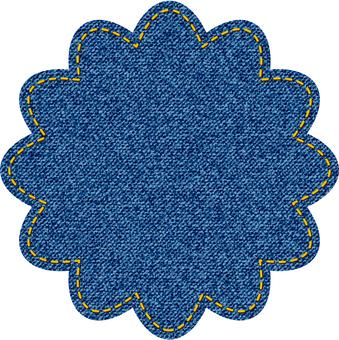 デニム風花型図形2