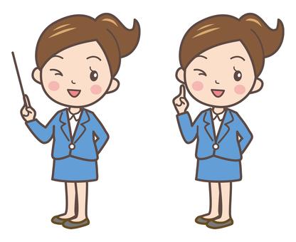 Business women pose 1-2