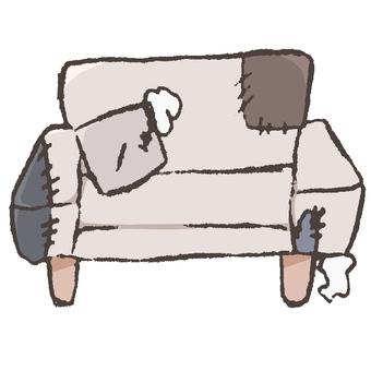 Tattered sofa