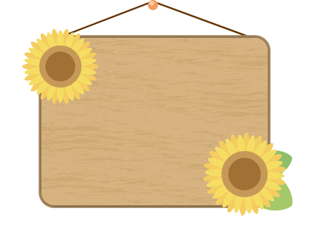 Wooden fishing sign (with sunflower)