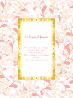 植物框架03 /粉紅色