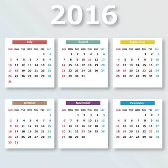 Calendar (late 2016)