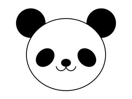 팬더 동물 아이콘