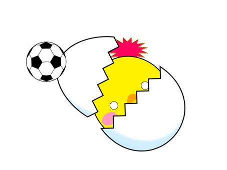 Soccer ball warmed egg