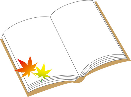 Autumn of reading (autumn leaves)