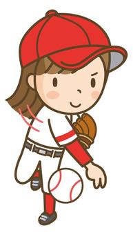 Baseball girls (pitchers)