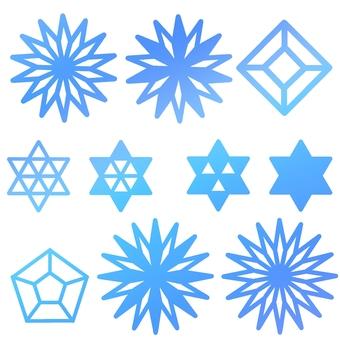 Blue Grade Crystal Set