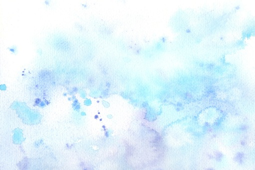 Background material - Water drops and bleeding in watercolor