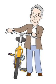 Bicycle and old man