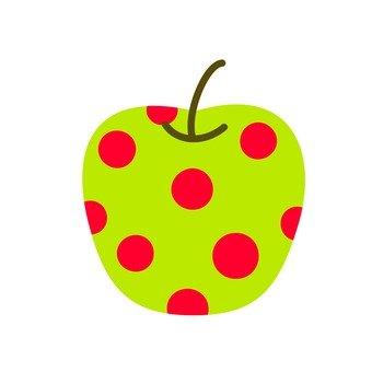Green apple · red dot