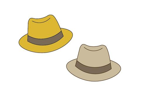 Middle fold hat