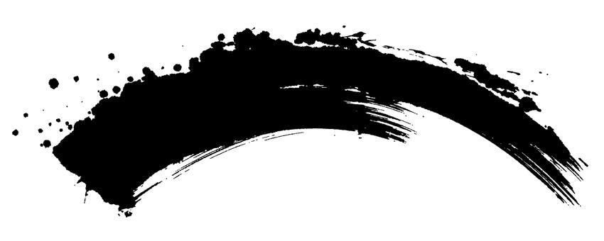 Black material Handwritten brush illustration