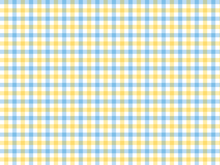 Gingham check ● Yellow × blue