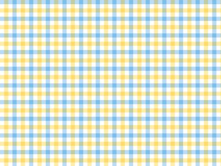 깅엄 체크 ● 옐로우 × 블루