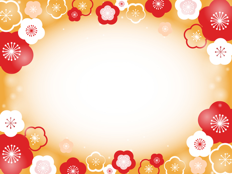 Plum flower decorative frame 14