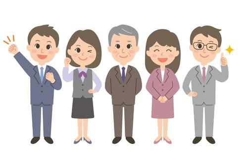 Gender office worker set 01