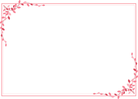 Pink leaf frame