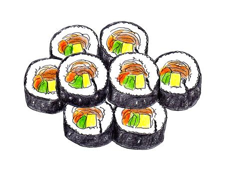 キンパ(韓国海苔巻き)皿なし