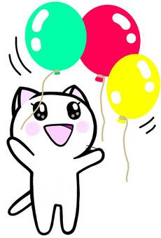 Balloons release cat cat cat