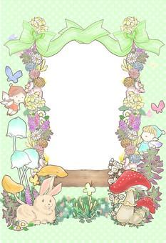 Fairy tale frame green