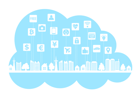 青空とスマートシティのクラウドフレーム枠