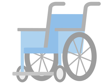 Light blue color 60123. Wheelchair, light blue