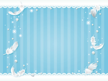 Feather and lace white day background 01