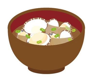 Miso soup clam