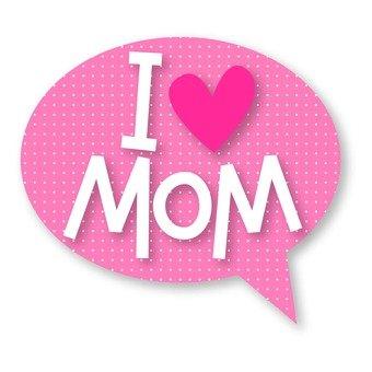 I Love Mama Callout Logo