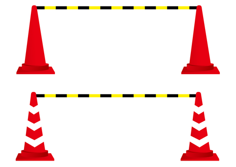 Color cone with safety bar