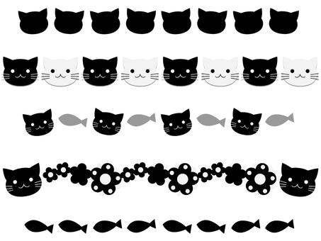 Cat's line set black