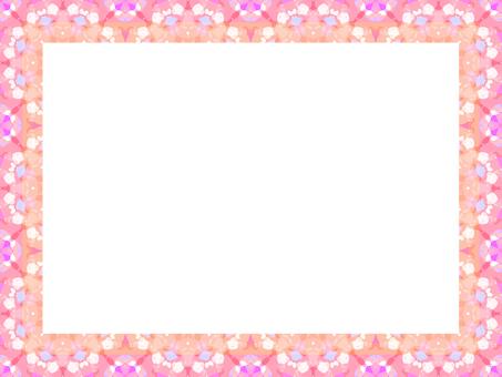 Flower pattern frame pink