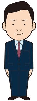 Triple-headed businessman (be careful)