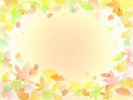 Autumn leaves Ginkgo biloba background -17